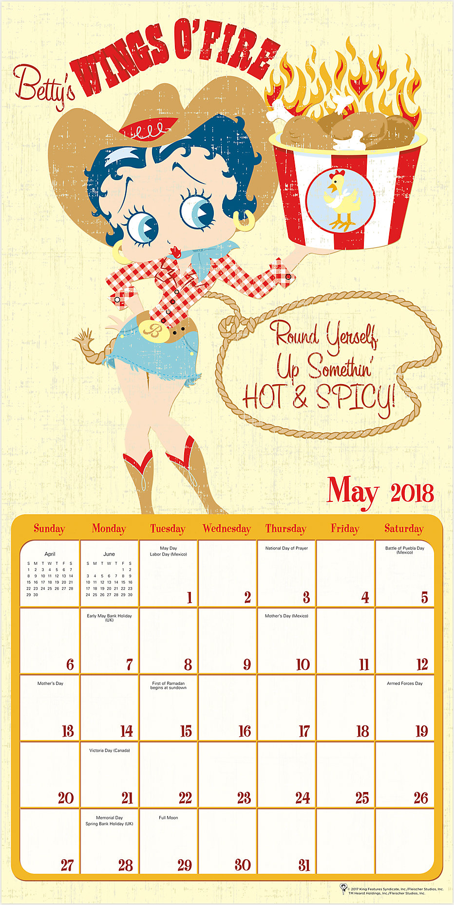 Betty Boop Wall Calendar | HTH302 | Mead