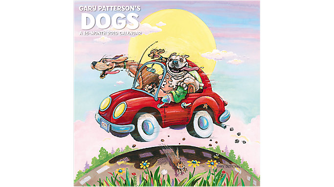 Mead Gary Pattersons Dogs Wall Calendar  (HTH546)