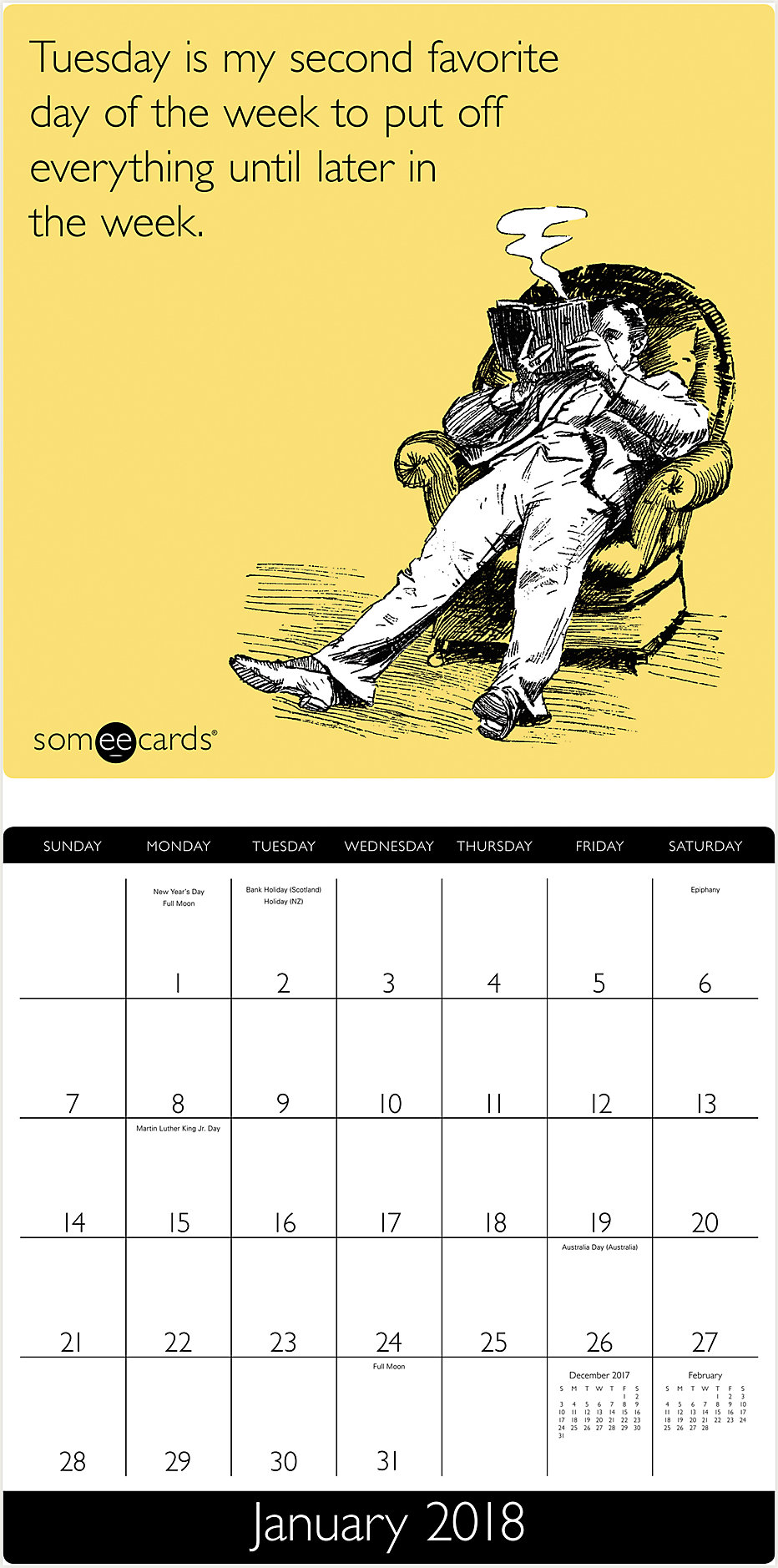 Someecards Wall Calendar | HTH556 | Mead