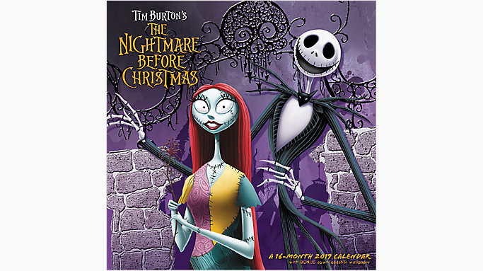 mead disney the nightmare before christmas wall calendar hth652