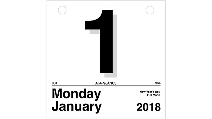 AT-A-GLANCE Today Is Daily Wall Calendar Refill for K1  (K150)
