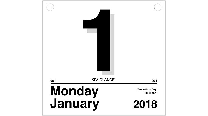 AT-A-GLANCE Today Is Daily Wall Calendar Refill for K4  (K450)