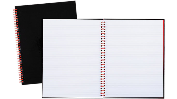 Black n' Red  Hardcover Business Notebook  (K67030)