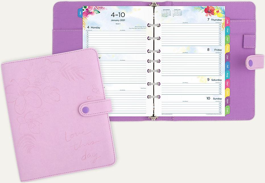 Kathy Davis 2-Page-Per-Week Planner Set Desk Size ( # KD103)