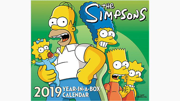 The Simpsons Year In A Box Calendar Lmb245 Mead