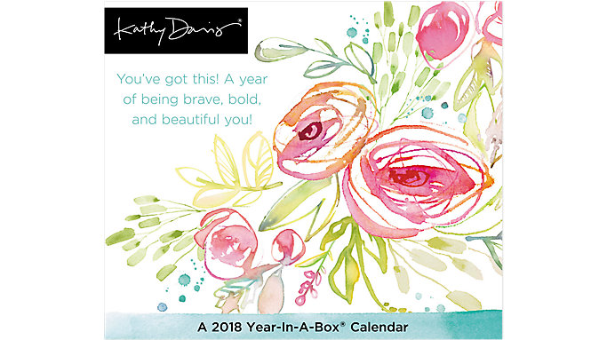 Mead Kathy Davis Year-In-A-Box Calendar  (LMB253)