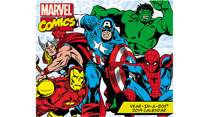 Mead History of Marvel Comics Year-In-A-Box Calendar  (LMB256)