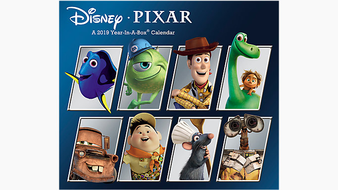disney pixar year in a box calendar lmb257 mead