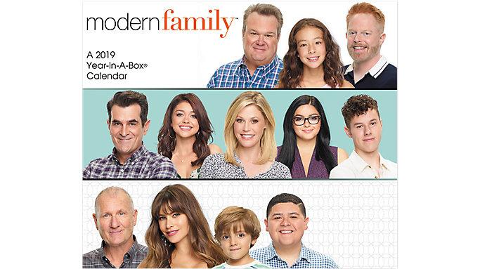 MEAD Modern Family Year-In-A-Box Calendar  (LMB268)