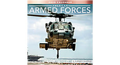 American Armed Forces 12x12 Monthly Wall Calendar (Item # LME312)