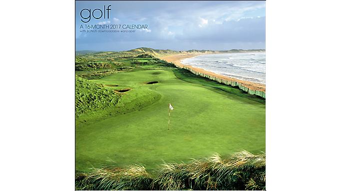 Landmark 2017 Golf Wall Calendar - Wall Calendars 900531