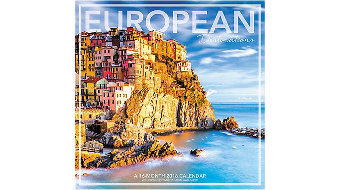 Landmark European Destinations Wall Calendar  (LML728)