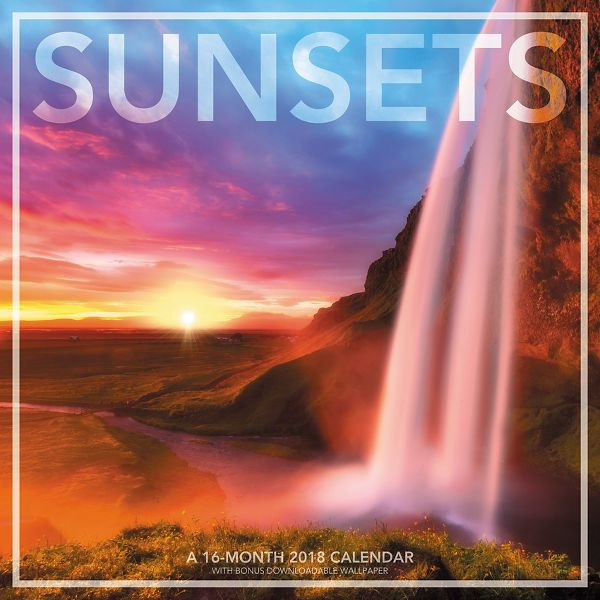 Landmark Sunsets Wall Calendar - Decorative Calendars LML7481018