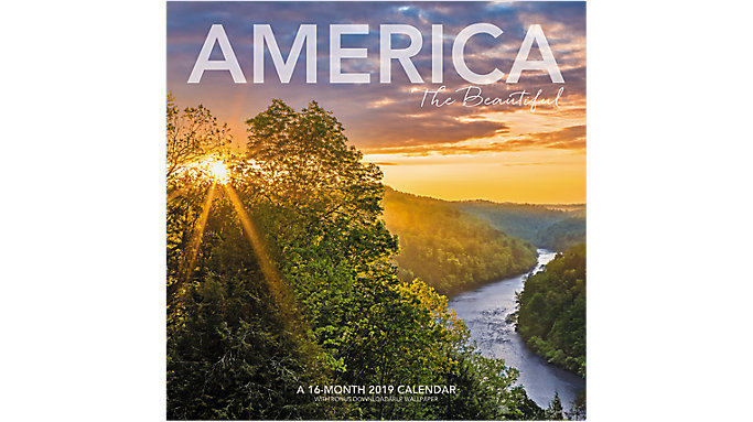 Landmark America the Beautiful Wall Calendar  (LML761)