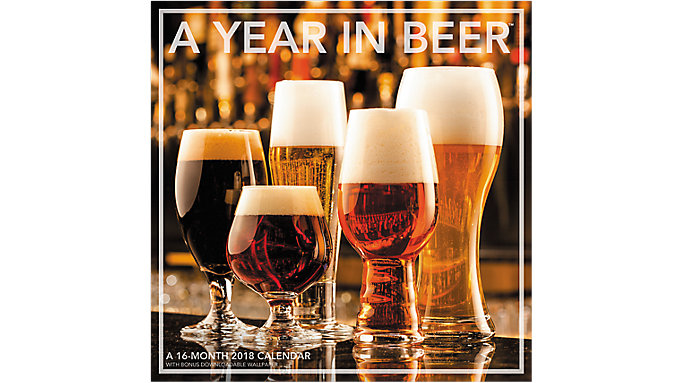 Landmark A Year In Beer Wall Calendar  (LML769)