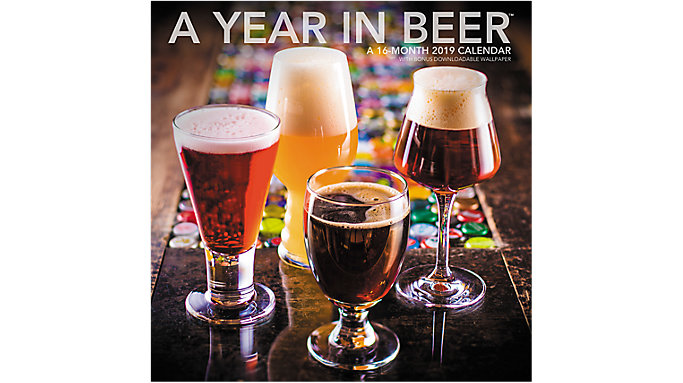 Landmark A Year In Beer Wall Calendar  (LML769)