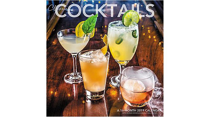 Landmark Classy Cocktails Wall Calendar  (LML772)