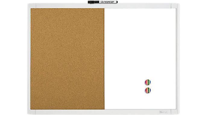 Cork-Magnetic Dry Erase Combination Board with Frame 23x17 ...