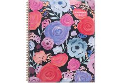 AT-A-GLANCE Midnight Rose Bold Flowers Planner