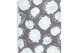 AT-A-GLANCE Gray and Mint Flora Planner