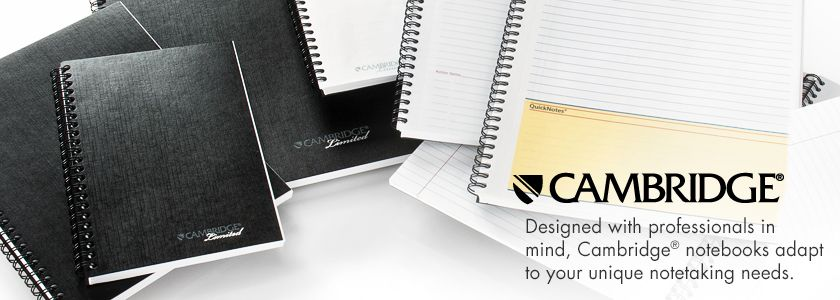 Designed with professionals in mind, Cambridge® notebooks adapt to your unique notetaking needs.