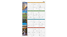 Seasons in Bloom Horizontal-Vertical Erasable Yearly Wall Calendar (Item # PA133)