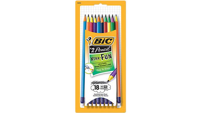 BIC Graphite Pencil Xtra Fun Number 2 HB  (PGEP181)