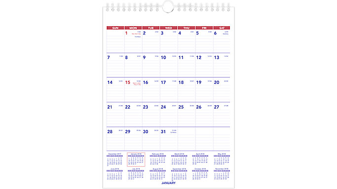 AT-A-GLANCE Monthly Wall Calendar  (PM1)