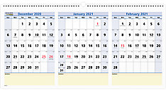 QuickNotes 3-Month Wall Calendar (Item # PM15)