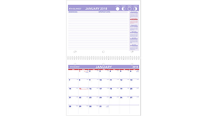 AT-A-GLANCE Monthly Wall Calendar  (PM170)