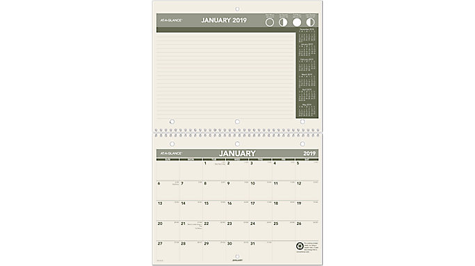 AT-A-GLANCE Recycled Monthly Wall Calendar  (PM170G)