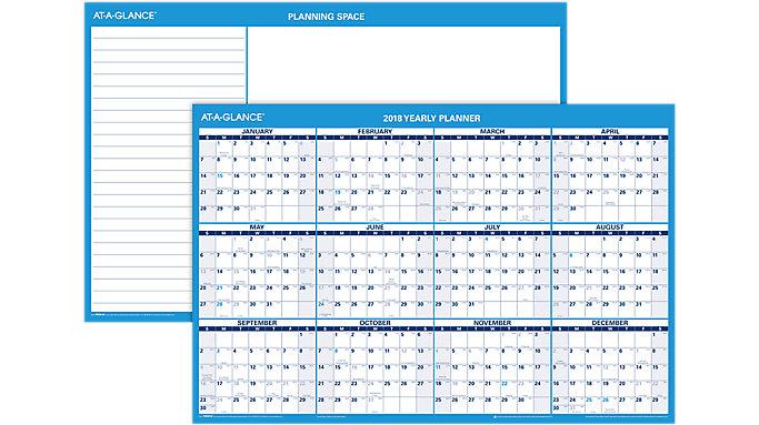 AT-A-GLANCE Horizontal Erasable Wall Calendar  (PM200)