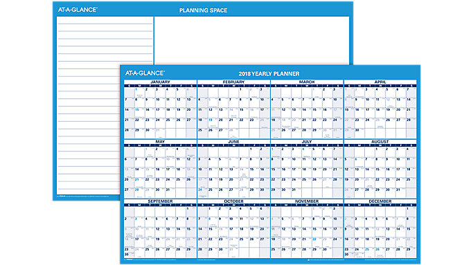 AT-A-GLANCE Horizontal Erasable Wall Calendar  (PM200)