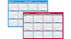 2-Sided Horizontal Erasable Wall Calendar (Item # PM200S)