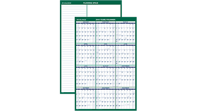 AT-A-GLANCE Vertical Erasable Wall Calendar  (PM210)