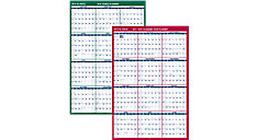 2-Sided Vertical Erasable Wall Calendar (Item # PM210S)
