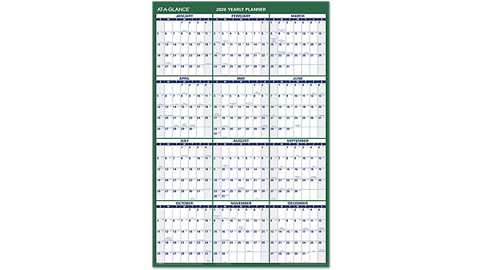 AT-A-GLANCE 2-Sided Vertical Erasable Wall Calendar  (PM210S)