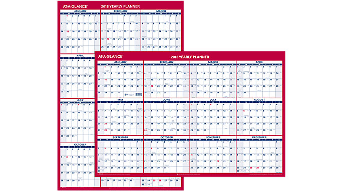 AT-A-GLANCE Paper Vertical-Horizontal Wall Calendar  (PM212)