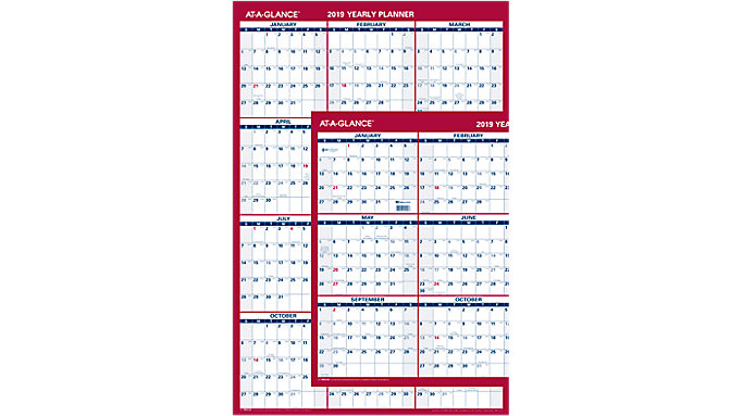 AT-A-GLANCE Paper Vertical-Horizontal Wall Calendar  (PM212)