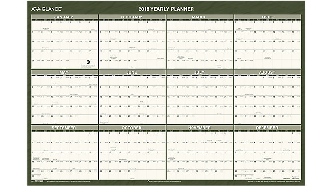 AT-A-GLANCE Recycled Reversible Wall Calendar  (PM212G)