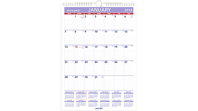 AT-A-GLANCE Monthly Wall Calendar  (PM2)