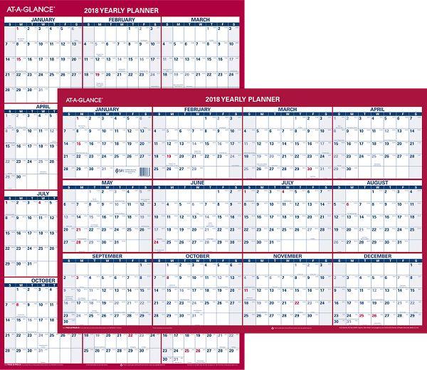 At-A-Glance 2-Sided Erasable Wall Calendar - Erasable Wall Calendars