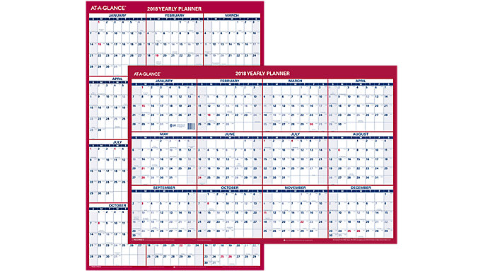 AT-A-GLANCE 2-Sided Erasable Wall Calendar  (PM26)