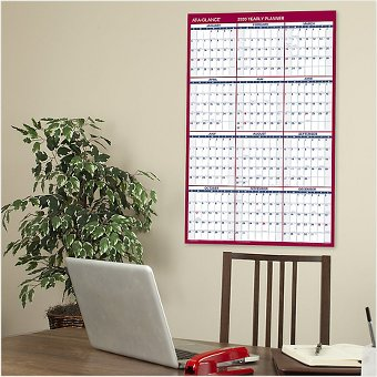 AT-A-GLANCE 2-Sided Erasable Wall Calendar