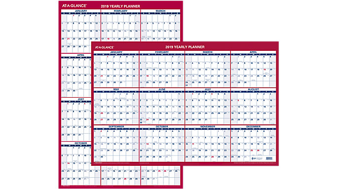 AT-A-GLANCE 2-Sided Erasable Wall Calendar  (PM26B)