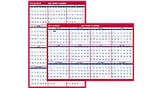 Vertical-Horizontal Erasable Yearly Wall Calendar (Item # PM26P)