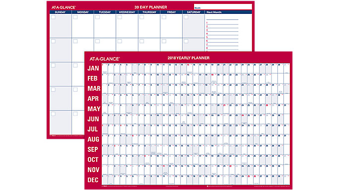 AT-A-GLANCE Horizontal Erasable Wall Calendar  (PM28)