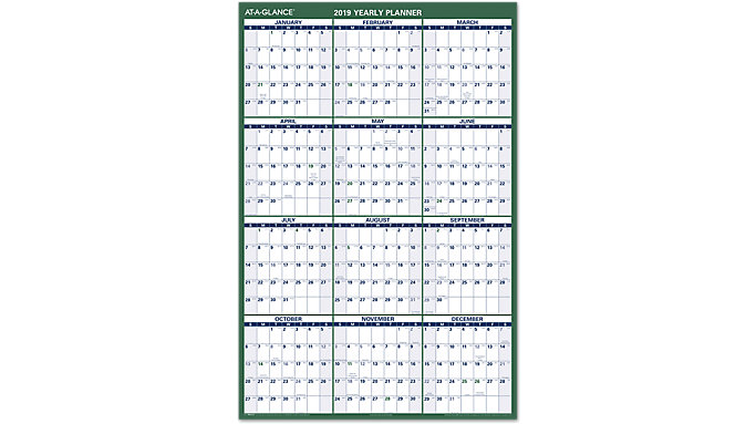 AT-A-GLANCE XL Vertical Erasable Wall Calendar  (PM310)