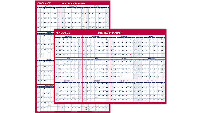 AT-A-GLANCE XL 2-Sided Erasable Wall Calendar  (PM326P)