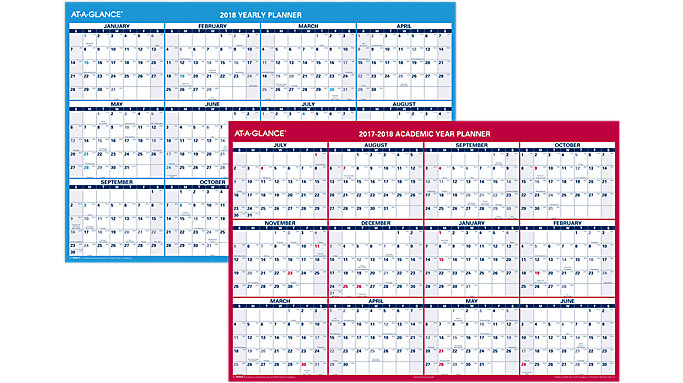 AT-A-GLANCE Horizontal Yearly Erasable Wall Calendar  (PM326S)